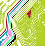 Colour Chip Background. A fully scalable vector illustration of a colour computer chip. Jpeg & Illustrator AI file formats available stock illustration