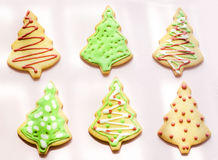 Colour Christmas trees cookies Stock Photography