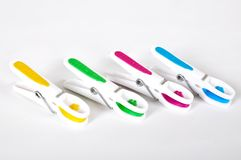 Colour clothes peg royalty free stock image