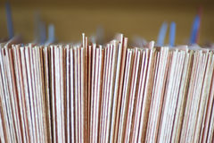 Colour Coded Filing System For Folders. Closeup of colour coded filing system for folders Royalty Free Stock Images