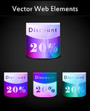Colour collection of design element Royalty Free Stock Photos