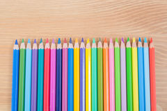 Colour, color pencils isolated on white background Royalty Free Stock Photo