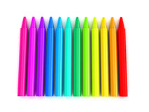 Colour crayons over white background Royalty Free Stock Image