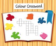 Colour crossword gry szablon royalty ilustracja