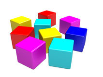 Colour cubes Stock Image