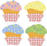 Colour cupcakes Stock Image