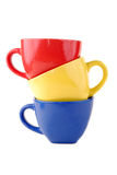 Colour cups Royalty Free Stock Photography