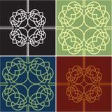 colour cztery ozdobni kwadratów warianty ilustracja wektor