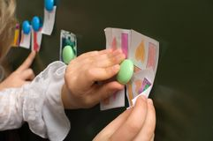 Colour decorative magnets. Stock Photo
