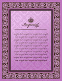 colour dekoracyjny kwiatu ramy imperiału rocznik Obrazy Royalty Free
