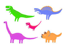 Colour dinosaurs Stock Image