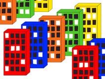 colour domy Zdjęcia Royalty Free
