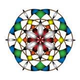 Colour dream catcher mandala pattern royalty free illustration