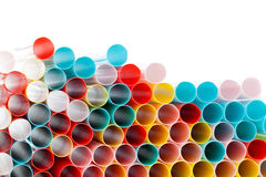Colour drinking straws Stock Image