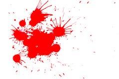 colour droppar röda Arkivfoton