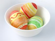 Colour Easter eggs. In a plateau stock images