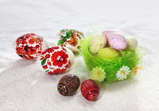 Colour Easter Eggs Stock Photos