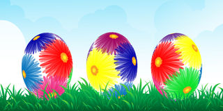 Colour easter vector banner Royalty Free Stock Photography