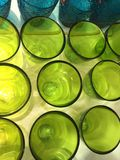 Colour empty  glasses Royalty Free Stock Photo