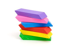 Colour erasers Stock Photography