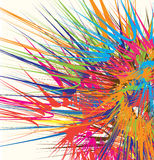 Colour explosion. An explosion of colours against white background Royalty Free Stock Photography