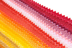 Colour fabric samples. On white background Royalty Free Stock Photography