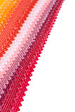 Colour fabric samples Stock Image