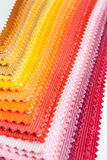 Colour fabric samples Royalty Free Stock Image