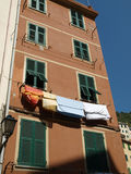 Colour facades of buildings in Riomaggiore Royalty Free Stock Photos