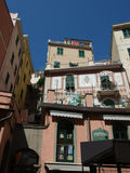 Colour facades of buildings in Riomaggiore Stock Images
