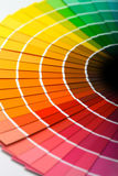 Colour fan stock images