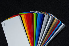 Colour fan. On black back round royalty free stock photography