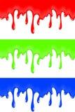 Colour farba smudges, opuszcza dla twórczości, ilustracja wektor