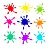 Colour farby kleks, pluśnięcia dla twórczości ilustracji