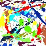 Colour farby kleks, pluśnięcia, opuszcza dla tła royalty ilustracja