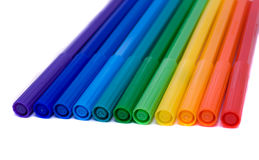 Colour felt-tip pens Stock Photo