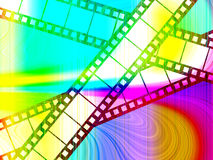 Colour Film. Abstract image of some film with added colour Royalty Free Stock Image