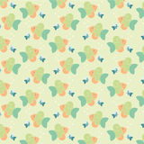 Colour fish pattern. Abstract creative colour cute fish pattern vector Stock Photos
