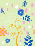 Colour Floral Background Stock Images