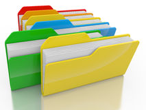 Colour folders Stock Photos