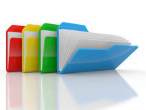 Colour folders Royalty Free Stock Images