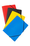 Colour folders Stock Photo