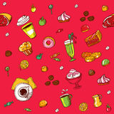 Colour food pattern Stock Image