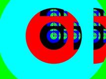 Colour fractal tło ilustracja wektor