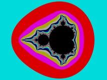 Colour fractal tło royalty ilustracja