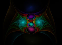 Colour fractal web Stock Image