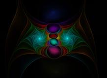 Colour fractal web stock image