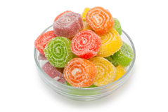 Colour fruit jellies Stock Photo