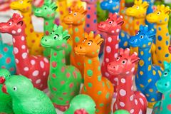 Colour full giraffe Royalty Free Stock Images
