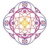 Colour geometryczny ornament na białym tle ilustracji
